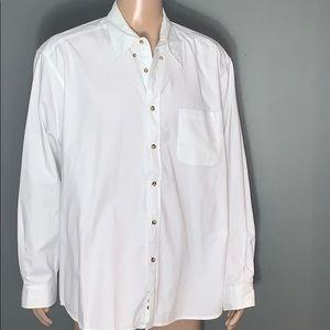 Eddie Bauer Mens White Button Down Shirt SZ.XL